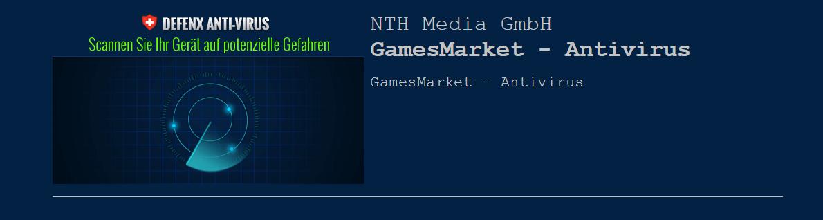 GamesMarket – Antivirus